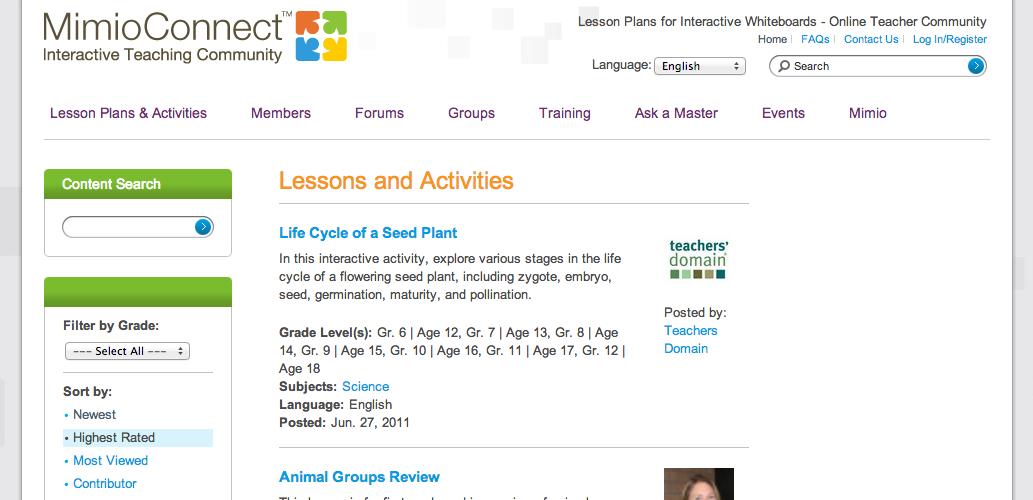 MimioConnect online educator community