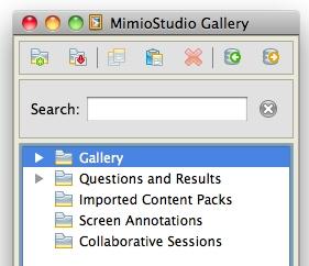 MimioStudio Gallery Window