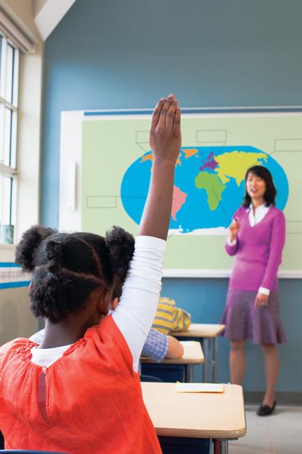 Interactive Whiteboard Hand Raised