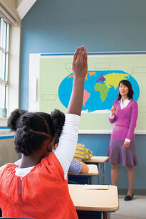 Interactive Whiteboard Hand Raised