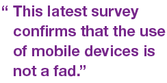 Use of Mobile devices is not a fad.