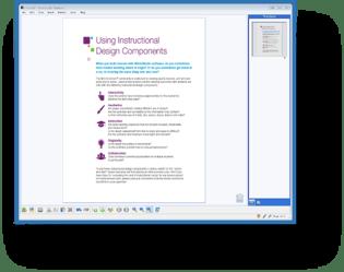MimioStudio Classroom Software Document screen