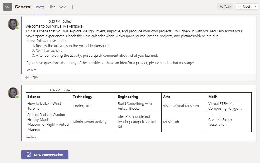 Virtual Makerspace-Teams